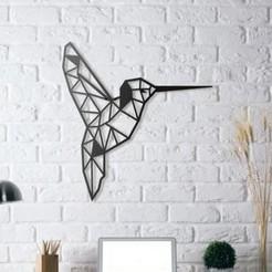Descargar archivo 3D gratis Colibri Wall Sculpture 2D, UnpredictableLab