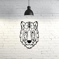 74.Tiger.jpg Download STL file Tiger wall Sculpture 2D • 3D print model, UnpredictableLab