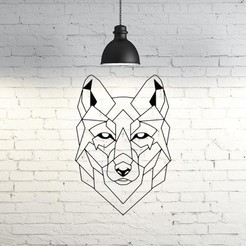 53.New wolf.jpg Download STL file Wolf Wall Sculpture 2D • Design to 3D print, UnpredictableLab