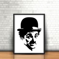 30.Charlie Chaplin.jpg Télécharger fichier STL Charlie Chaplin Sculpture murale 2D • Plan imprimable en 3D, UnpredictableLab