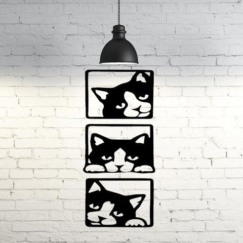 STL files Cats wall sculpture 2D, UnpredictableLab