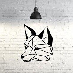 Descargar modelo 3D Wolf Face Wall Sculpture 2D, UnpredictableLab