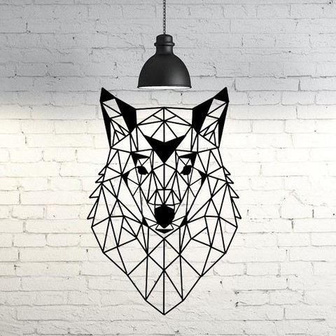 3D printer files Wolf VI Wall Sculpture 2D, UnpredictableLab