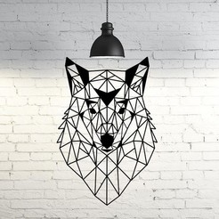 56.Low poly wolf.jpg Download STL file Wolf VI Wall Sculpture 2D • 3D print model, UnpredictableLab