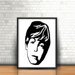 3D print model Paul McCartney wall sculpture 2D, UnpredictableLab