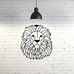 Descargar diseños 3D Lion face III wall sculpture , UnpredictableLab