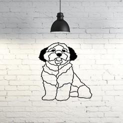 Descargar modelo 3D gratis Escultura de pared para perro maltés 2D, UnpredictableLab