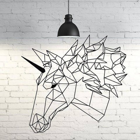 Descargar STL Unicorn Wall Sculpture 2D, UnpredictableLab
