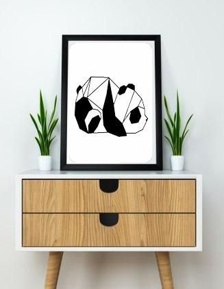 12.Panda (2).jpg Download free STL file Panda Wall Sculpture 2D • 3D print design, UnpredictableLab