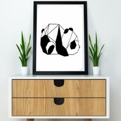 Diseños 3D Panda Wall Sculpture 2D, UnpredictableLab