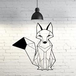 STL Foxy IV wall sculpture 2D, UnpredictableLab