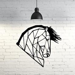 Descargar Modelos 3D para imprimir gratis Wild Horse Wall Sculpture 2D, UnpredictableLab