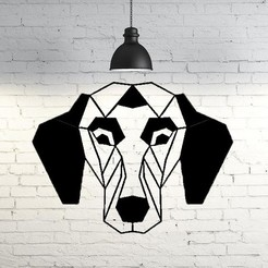 Modelos 3D Pointer Dog Wall Sculpture 2D, UnpredictableLab