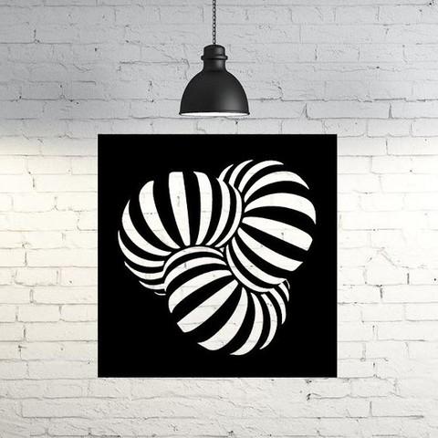 Plan imprimante 3D gatuit Cadre optique III Sculpture murale 2D, UnpredictableLab