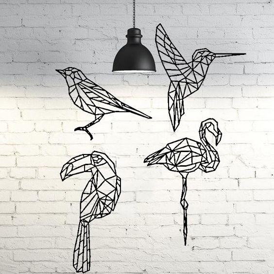fondo.jpg Download STL file Pack 2D wall sculpture birds • 3D printing template, UnpredictableLab