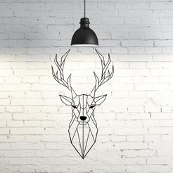 Archivos STL Deer VI Wall Sculpture 2D, UnpredictableLab