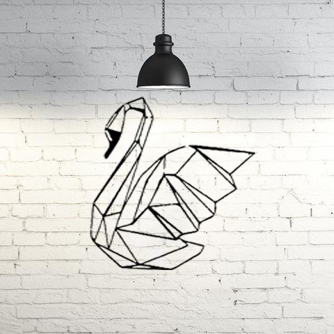 Modèle 3D gratuit Sculpture de mur de cygne 2D II, UnpredictableLab