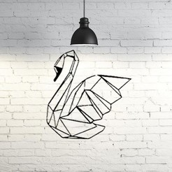 Free 3D model Swan Wall Sculpture 2D II, UnpredictableLab