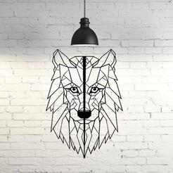 Descargar diseños 3D Wild Wolf Wall Sculpture 2D, UnpredictableLab