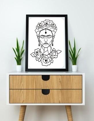 9.frida (2).jpg Download STL file Frida Kahlo Wall Sculpture 2D II • 3D printing template, UnpredictableLab