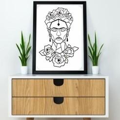 Archivos STL Frida Kahlo Wall Sculpture 2D II, UnpredictableLab