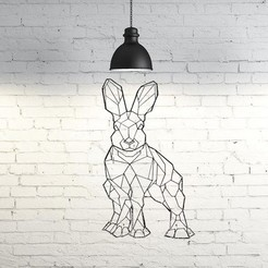 Descargar STL Hare Wall Sculpture 2D, UnpredictableLab