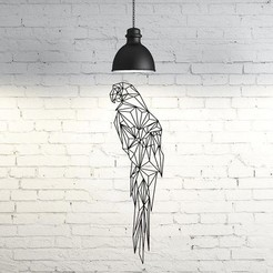 Download STL files Wall Cacatua Sculpture 2D, UnpredictableLab