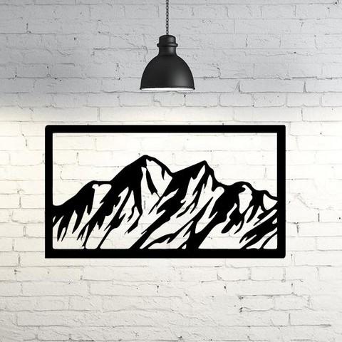 Descargar archivos STL Mountain Wall Sculpture 2D, UnpredictableLab