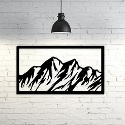 mountain3.jpg Download STL file Mountain Wall Sculpture 2D • Model to 3D print, UnpredictableLab