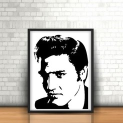 Free 3D printer files Elvis Presley Wall Sculpture 2D, UnpredictableLab
