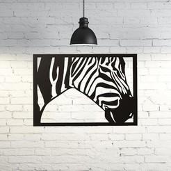 Free STL Zebra Wall Sculpture 2D, UnpredictableLab