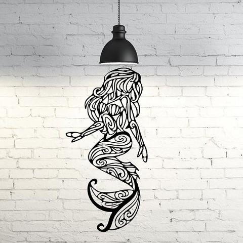 3D print files Siren wall sculpture 2D, UnpredictableLab