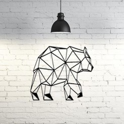 STL file Bear Wall Sculpture 2D II, UnpredictableLab