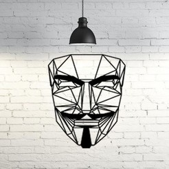 Download free 3D printing templates Anonymous wall sculpture 2D, UnpredictableLab