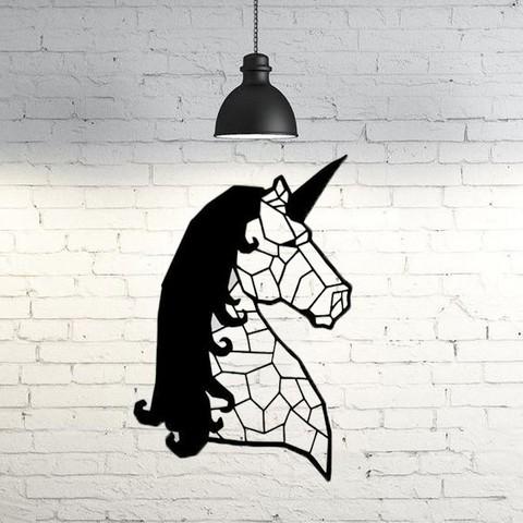 Free STL files Unicorn Wall Sculpture 2D, UnpredictableLab