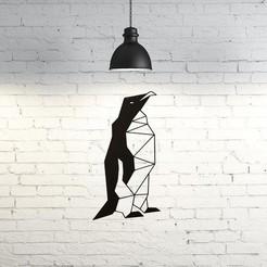 Archivos 3D Penguin Wall Sculpture 2D, UnpredictableLab