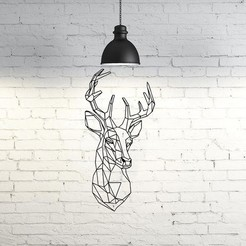 Archivos 3D Deer V Wall Sculpture 2D, UnpredictableLab