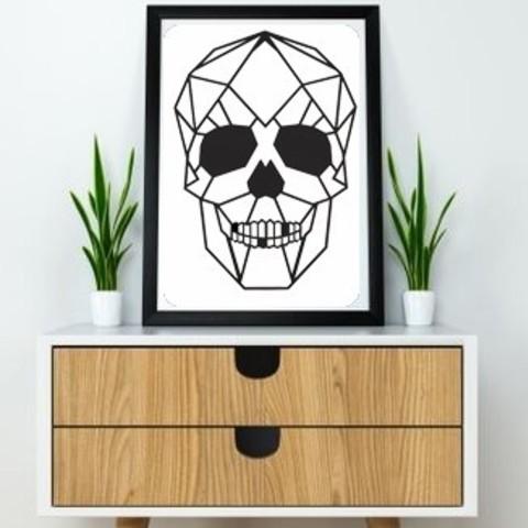 11.skull (2).jpg Download STL file Skull Wall Sculpture 2D • Model to 3D print, UnpredictableLab