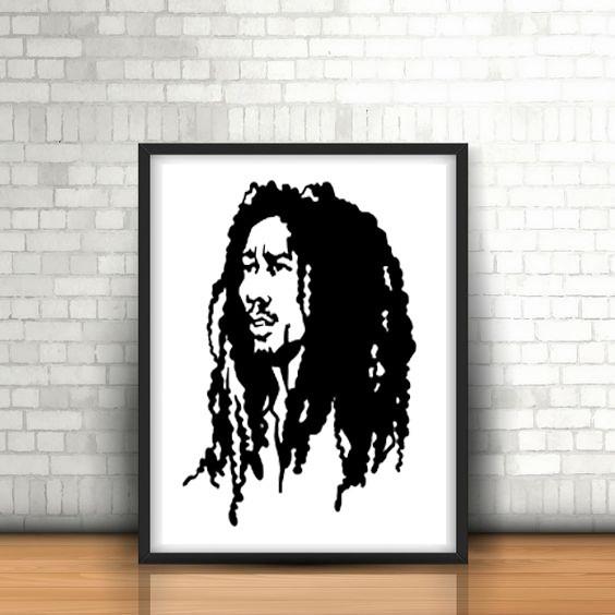 9.Bob Marley.jpg Download STL file Low Poly Face Wall Sculpture 2D • 3D printable object, UnpredictableLab