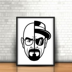 Free stl file Walter White - Breaking Bad Wall 2D, UnpredictableLab