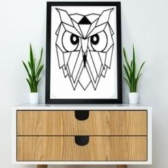 Impresiones 3D Owl Wall Sculpture 2D, UnpredictableLab