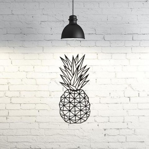Descargar diseños 3D gratis Pineapple wall sculpture 2D, UnpredictableLab