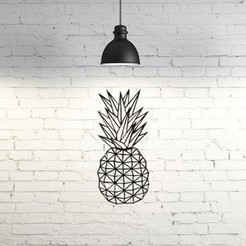 Free STL files Pineapple wall sculpture 2D, UnpredictableLab