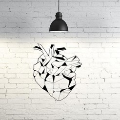 3D printing model Bio heart wall sculpture 2D, UnpredictableLab