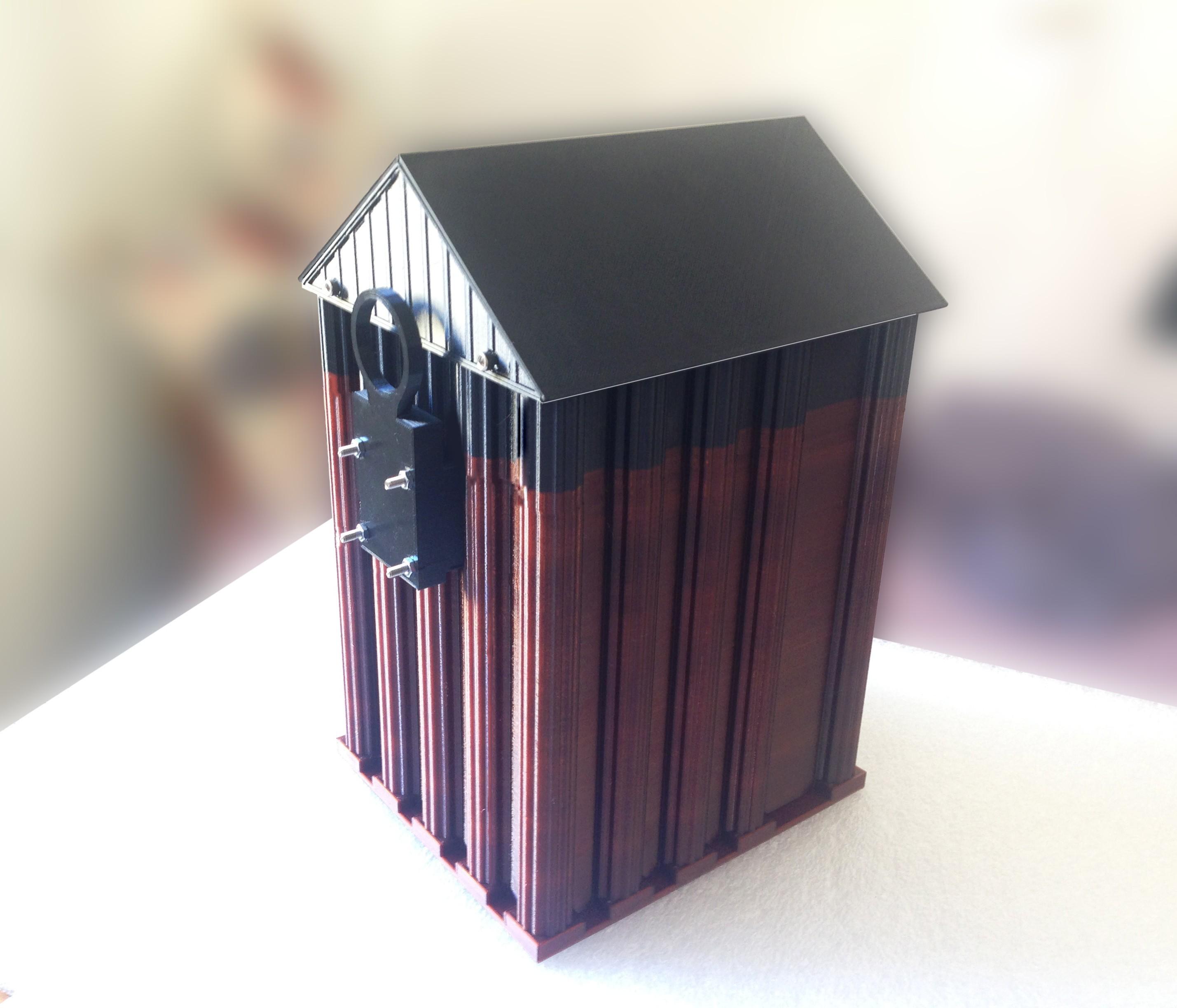budka2.jpg Download STL file Birdhouse • 3D printable template, sev3do