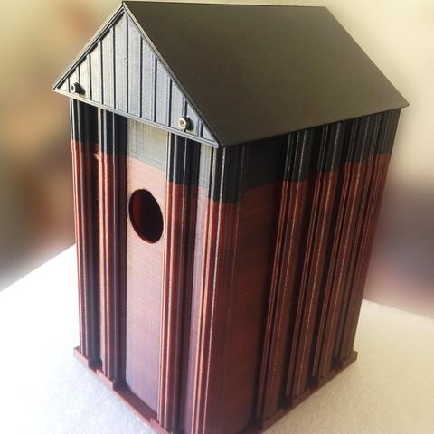 budka1.jpg Download STL file Birdhouse • 3D printable template, sev3do