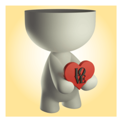 BetoLoveRender (Small).png Download STL file Beto vase in love • Template to 3D print, apcks