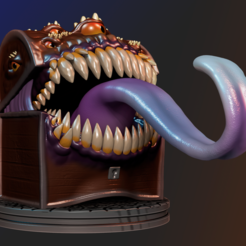 Download STL file Mimic - Dungeons & Dragons, apcks