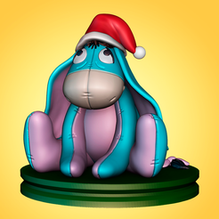 Download STL file Christmas Eeyore • 3D printer template, apcks