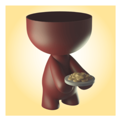 11 (Small).png Download STL file Beto with food pot • 3D printing object, apcks